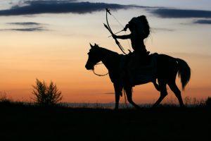Arcos de indios nativos americanos
