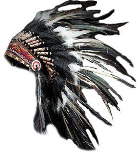 Penachos y sombreros indios nativos americanos