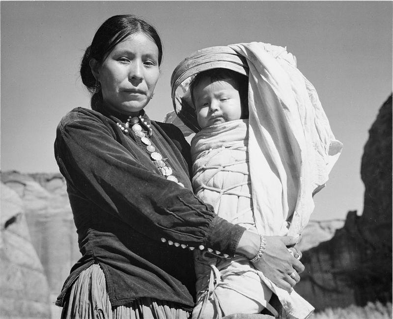 Madre e hijo Navajo