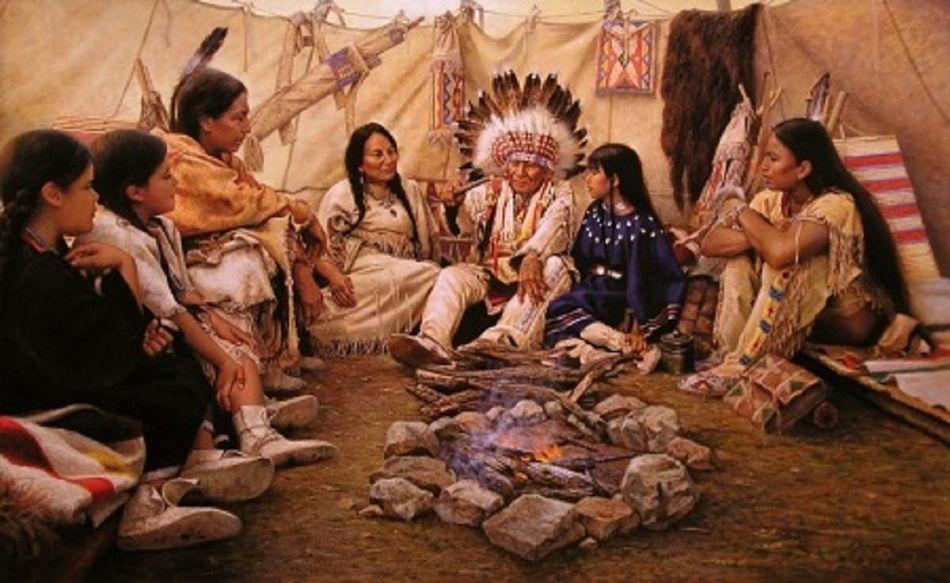 Tribu de indios Cherokee